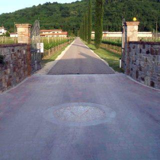 Corno di Rosazzo, Collio - triple layer unpaved road low-impact pothole repair - Slurry Srl