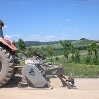 Unpaved road milling