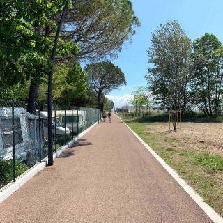 Grado - triple layer road paving a cycle path - Slurry Srl