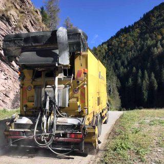 Alleghe - eco-friendly bitumen emulsion slurry cycle path - Slurry Srl