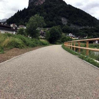 Cencenighe Agordino - triple layer cycle path - Slurry Srl