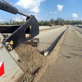 Preparing the stabilised substrate for roads - Slurry Srl