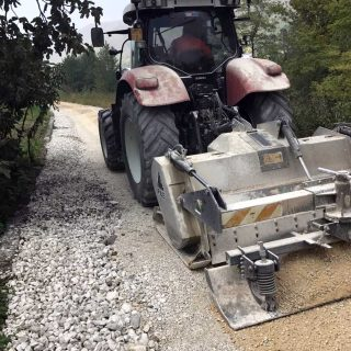 Constructing milled unpaved roads - Slurry Srl