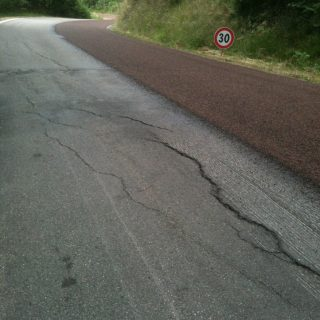Provincial road double layer surface dressing