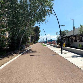 Grado - eco-friendly triple layer treatment for a cycle path - Slurry Srl